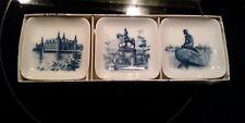 Lot of 3 Royal Copenhagen Mini Plates 2985-16 / 985, 2985- 8/ 985,& 2985-13/ 985