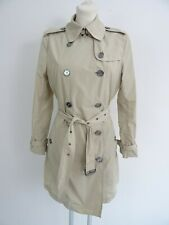 Burberry Brit Damen Kurzer Trenchcoat Mantel 38 Beige Wetterabweisend Check