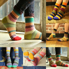 New Multi-Color Stripe Design Fashion Casual Socks Dress Women Men Home Socks