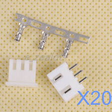 20 sets 3 pin connector kit Connector Lead Header 2.54mm XH-3P Kit