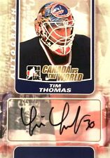 11-12 itg game canada vs world tim thomas team united states autograph auto