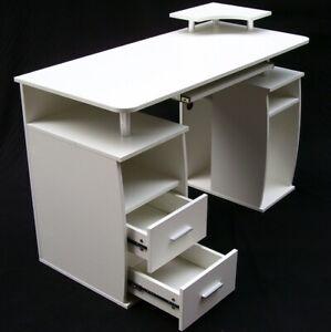 Computertisch PC-Tisch 120cm Arbeitstisch Gamingtisch Schreibtisch weiß 57040