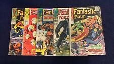 1967 MARVEL COMICS FANTASTIC FOUR #63 #64 #68 #75 #76 LOW GRADE GALACTUS THING
