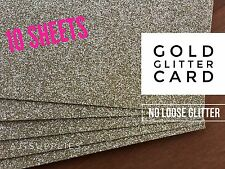 Gold Glitter CardStock (A4) High Quality Smooth No Loose Glitter Paper 10 Sheet