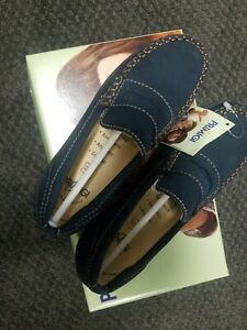 Primigi New Shoes Leather Suede Navy Size 32 Girls Boys School Loafers