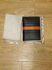Coach Passport Case with Baseball Stick Midnight Navy Cadet Dark Orange