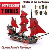 Lego Queen Anne's Revenge Ship Pirates Sailing Ship Building Blocks