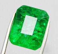 12 Ct IGI CERTIFIED 100%Natural Always Outstanding Green Emerald Loose Gemstone