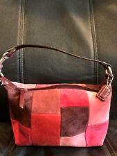 48a83e343c Authentic Coach Suede Patchwork Top Handle Pouch Bag Handbag