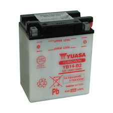 Batterie Moto Yuasa YB14-B2 12v 14.7ah 175A 134X89X166MM ACIDE OFFERT