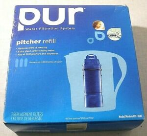 Pur Water Pitcher Refills Model CRF-950Z Replacement Filters 3 Pack Box NEW NIB