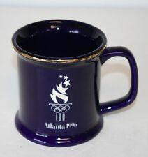 Atlanta 1996 Olympic Torch Coffee Mug Cup Blue Gold Centennial 100 Souvenir