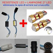 LUCI POSIZIONE GRANDE PUNTO KIT RESISTENZE + LAMPADINE 27 LED T10  W5W NO ERRORE