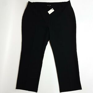 BNWT Capsule Black Elasticated Waist Work Trousers Size 26 Straight Leg Formal