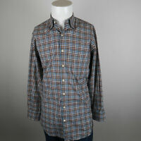 Peter Millar Button Up Casual Shirt Mens M Multicolor Long Sleeve Cotton Check