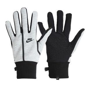 Nike Men's Tech Fleece Running Gloves Touch Screen Glove Gray DC8655-063