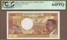 GABON: 5000 Francs Banknote,(UNC PCGS64),P-4c, 1978,No Reserve!