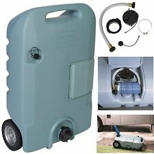 Portable Waste Tank RV Trailer Camping Sewer Black Gray Water Tote 25 Gallon