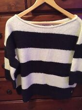JUICY COUTURE STRIPED MOHAIR PULLOVER NWT IN ANGEL STRIPE