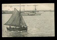 West Africa France Senegal DAKAR harbour + paddle steamer 1909 PPC