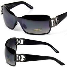 New DG Mens Womens Sunglasses Shades Shield Black Retro Vintage Designer Fashion