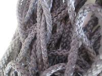 10 METER  Baumwolle Kordel grau 5mm  Borte Spitze Nähen