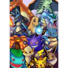 5D Full Drill Diamond Painting Embroidery Kits Decors Mural Pokemon Cartoon Art