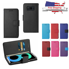 For Samsung Galaxy S8 / S8 Plus Note 8 Flip Wallet Case Stand Protective Cover