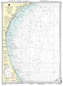 NOAA Chart Charleston Light to Cape Canaveral 41st Edition 11480