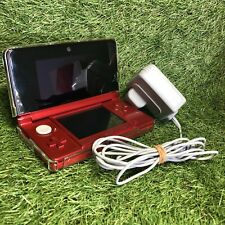 Flame Red Nintendo 3DS - PAL - CONSOLE Official CHARGER Bundle DS Mario Stylus