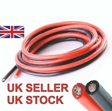 More details for silicone wire cable 10 awg 1 metre each red + black soft flexible high quality