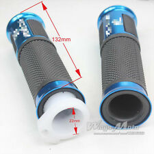 Blue 22mm Motorcycle Handle Grip Dirt Pit Bike Scooter Moped