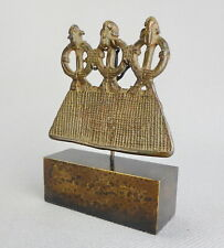 SENUFO Bronze superb pendant Senoufo Ivory Coast African Tribal Art 0845