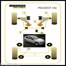 Powerflex Black Front Wishbone Bush Kit [4 Bushes] For Peugeot 106 Gti & Rallye