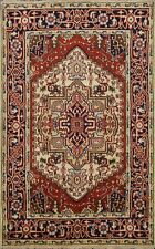 Geometric 4x6 ft Heriz Serapi Hand-Knotted Oriental Area Rug Home Decor Carpet