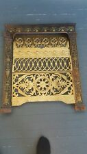 Fireplace Insert Cast Iron Cover Frame ELEGANT and ORNATE!
