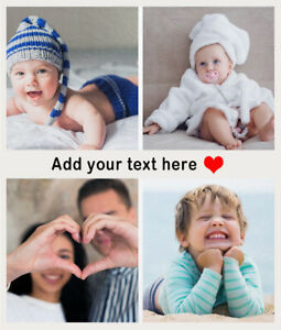 Personalised Photo Fleece Throw Blanket for Adult Baby Pet Picture Custom Gifts