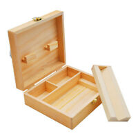 Wooden Stash Box With Rolling Tray Tobacco Weed Rizla Smoking Storage Organizes