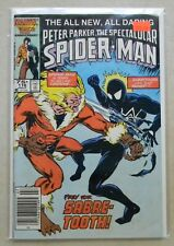 Spectacular Spider-Man #116 $10.00 (1986, Marvel) 7.0 FN/VF WHITE Sabre-tooth!