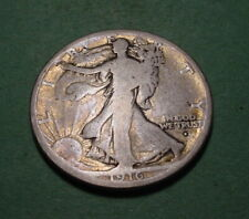 1916-S  WALKING LIBERTY  HALF DOLLAR - VERY GOOD   -   # BD-239