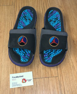 Air Jordan Retro 8 Slides Aqua Sz 11 Used No Box 100% Authentic Sandals