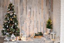 9X6FT Studio Photography Backdrop Vinyl Christmas Tree Wood Photo Background US