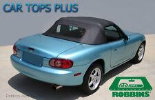 99-05 Miata Convertible Top & Heated Window Glass Black Stayfast Cloth