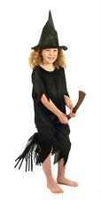 BLACK Witch Costume Di Halloween Costume 1 solo Ridotto Piccolo 3-4 per cancellare