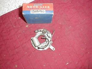 NOS MOPAR 1950 PLYMOUTH DODGE 6 CYLINDER DISTRIBUTOR BREAKER PLATE