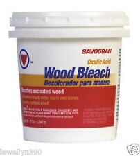 12OZ WOOD BLEACH Oxalic Acid  Removes Black Water Stains Gently Lightens Wood