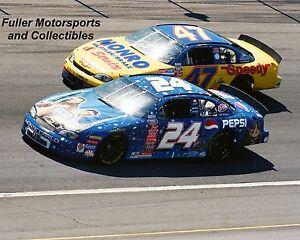 JEFF GORDON #24 STAR WARS vs ELLIOTT SADLER 1999 8X10 PHOTO NASCAR BUSCH SERIES