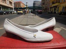 AMALFI Damen Schuhe Halbschuhe 43 UK 9 Weiß 80s Made in Italy 90er True Vintage