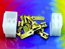 Kabelschuhe KIT 4 polig/way Flat plug / Flachstecker KIT + Gehäuse / Case  #A465