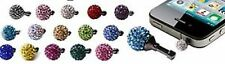 SHAMBALLA PHONE PLUG WITH 1 CLAY CZECH CRYSTAL DISCO BEAD - LATEST CRAZE UK SELL